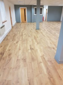 Clinic with brand new floor