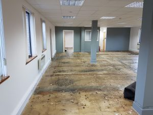 Clinic with no flooring