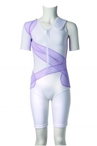 DM Orthotics female scoliosis suit from the front