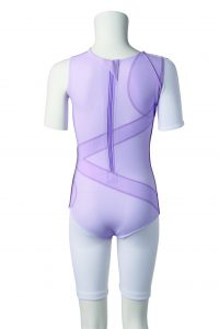 DM Orthotics female scoliosis suit from behind