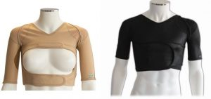 Male and female DMO shoulder support garments